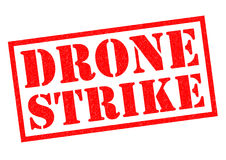 DRONE STRIKE Rubber Stamp Stock Photo