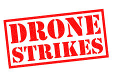 DRONE STRIKES Rubber Stamp Stock Photography