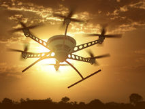 Drone Sunset Stock Photography