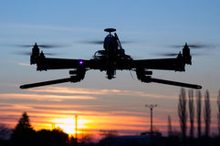 Drone in the sunset Stock Photo