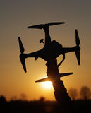 Drone in the sunset Stock Images