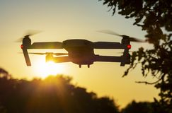 Drone in the Sunset Royalty Free Stock Image