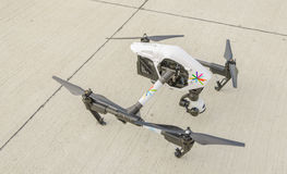 Drone with surveillance camera  Stock Photo