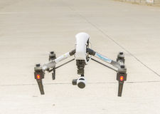 Drone with surveillance camera flying  Stock Image