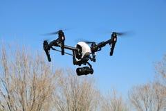 Drone with Surveillance Camera Stock Photo