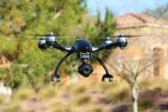 Drone with Surveillance Camera Stock Image