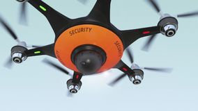 Drone with surveillance camera. stock video footage