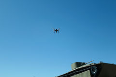 Drone and tank Royalty Free Stock Photography