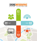 Drone technology design Stock Images