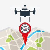 Drone technology design Stock Photography
