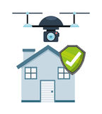 Drone technology design Royalty Free Stock Images