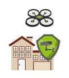 Drone technology design Stock Image