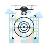 Drone technology design Stock Photos