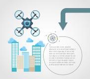 Drone technology design Stock Photo