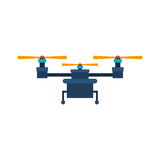 Drone with three airscrew and train of landing Stock Photography