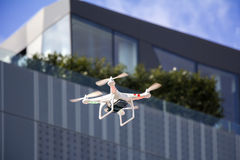 Drone to fly in the city Royalty Free Stock Image