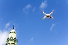 Drone to fly over the city Royalty Free Stock Image