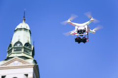 Drone to fly over the city Stock Photography