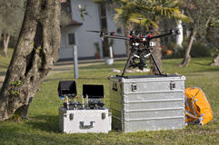 Drone and Tools Royalty Free Stock Photo