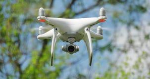 Drone UAV in Flight Closeup. A drone UAV in flight. With audio stock video
