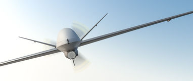 Drone UAV. In flight, front view royalty free illustration