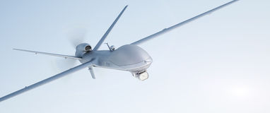 Drone UAV. In flight, front view stock photography