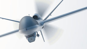 Drone UAV. In flight, front view stock illustration