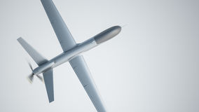 Drone UAV. In flight, top view royalty free stock image