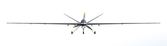 Drone. UAV front view, isolated on white background royalty free stock images