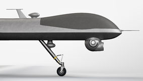 Drone. UAV side view, on neutral background stock image