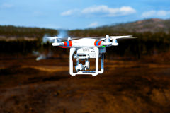 Drone up in the air Royalty Free Stock Images