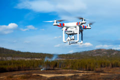 Drone up in the air Royalty Free Stock Photography
