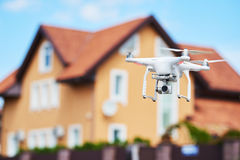 Drone usage. private property protection or real estate check Royalty Free Stock Images