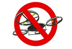 Drone Use Prohibited Sign Royalty Free Stock Photography