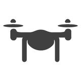 Drone vector icon Stock Photography