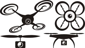 Drone - vector icon Royalty Free Stock Photo
