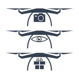 Drone Vector Icons Royalty Free Stock Photos