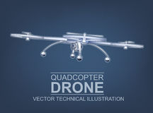 Drone Vector Illustration Stock Image