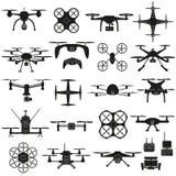 Drone vector set. vector illustration