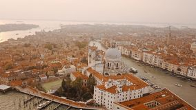 Aerial view of Venice Italy stock footage