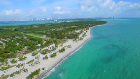 Drone video Crandon Park Miami Key Biscayne stock video footage