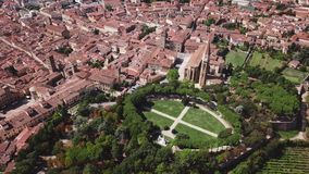 Aerial view of Arezzo Tuscany Italy. Drone video footage - Aerial view of Arezzo Tuscany Italy stock footage