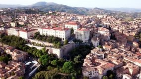 Aerial view of Perugia Tuscany Italy. Drone video footage - Aerial view of Perugia Tuscany Italy stock footage