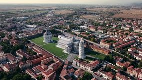 Drone video footage - Leaning Towe of Pisa. Drone video footage - Leaning Tower of Pisa, Tuscany, Italy stock footage