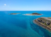 Drone view of Abrolhos, Bahia, Brazil. Beautiful aerial drone view of Abrolhos, Bahia, Brazil royalty free stock photo