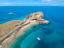 Drone view of Abrolhos, Bahia, Brazil. Beautiful aerial drone view of Abrolhos, Bahia, Brazil stock photography
