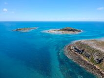 Drone view of Abrolhos, Bahia, Brazil. Beautiful aerial drone view of Abrolhos, Bahia, Brazil stock image