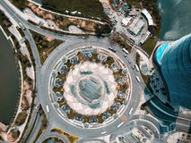 Drone view of a roundabout in macau royalty free stock photos