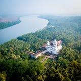 Aerial View of Church of St Cajetan in Velha Goa India. Drone View of Church of St Cajetan in Velha Goa India stock photo