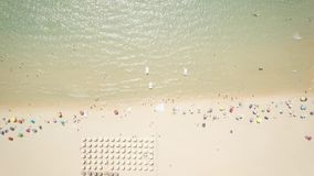 Drone view of a cove in Sardinia stock footage